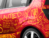 MANCHESTER UNITED FAN CAR