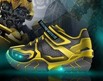 Boys Light Up Shoe Concept - Bumblebee Themed