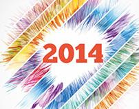 Abstract Wall Calendar 2014 A3