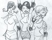 Detroit Derby Girls poster DEC 2013