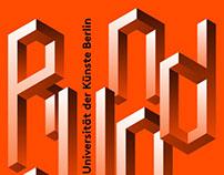 Flyer-/Plakatentwurf für Rundgang 2013 der UdK