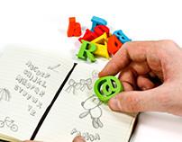 Alphabet Erasers