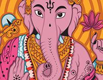 Ganesha, ilustración