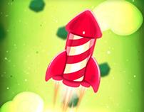 Happy Deepawali (Rocket)