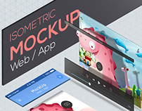 Isometric Mockup for Web / App