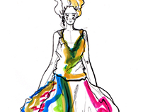 Fashion illustration for FunnyMoon