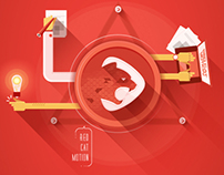 Red Cat Motion Illustrations