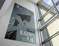Black paper planes