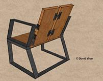 Wood & Steel Chair