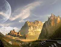 Castel in another land - Mattepainting