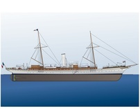 Illustrations First Steam Yachts of Rothschild family