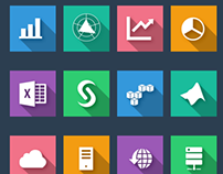 30 Free Flat Business & Data Analysis Icons