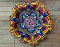 "FLAME'BOYANT ART - Ethnic Indian Lamp ""DIYA"""
