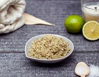 Green tea/lime zest sugar scrub