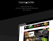 MacroCenter Youtube Channel Skin and MacroBlog Design