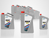 MAK lubricant packaging