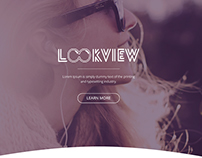 "Landing page ""Look View"""