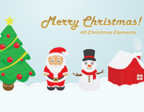 40 Christmas Elements Design Pack