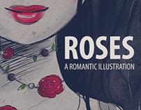 Roses: A romantic illustration.