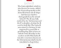 Letter R layout