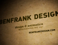 BENFRANK DESIGN SHOWREEL