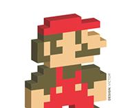 Mario 3d Pixel