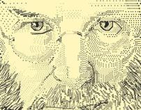Steve Jobs Stipple portrait