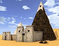 Bagrawya pyramids in Sudan