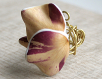 Real Rose Petals Ring - Botanist In Love Jewelry