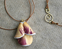 Real Rose Petals Pendant - Botanist In Love Jewelry
