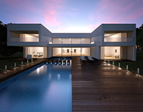 House Exterior with Pool [3D]