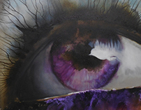 Purple eye painting