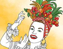 Brazilian Carnival. Coloring book