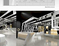 """""""Firetrap"""" clothing store interior project"""