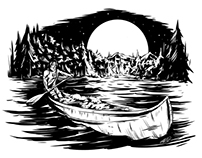 Boy Scouts of America - Canoe Illustration