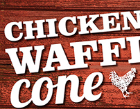 Chicken and Waffle Cone Poster