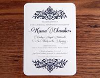 Chambers Bridal Shower Invitations
