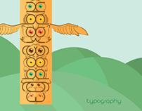 Typography totem