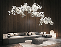 Bright and appealing Interior. 3D visualisation.