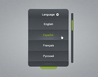 Language Selector Combo Box Free PSD