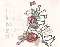 September •• (Calendar Design)