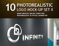 10 Realistic Logo Mockups Set II