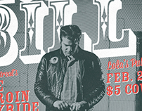 Bloodshot Bill Gig Poster