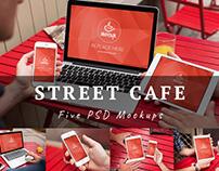 5 PSD Mockups Street Cafe