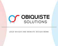 Logo and Website Design Work for Obiquiste Solutions