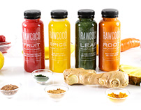 Cold-pressed Juice Bottle Re-design — RawCoco, 2017