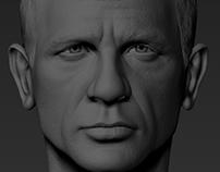 Daniel craig 1/6 head sculpt