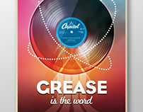 Grease - Affiche spectacle musical