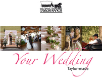 16-page brochure for wedding venue Taylor Ranch