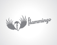 Flammingo Rock T-shirt Design